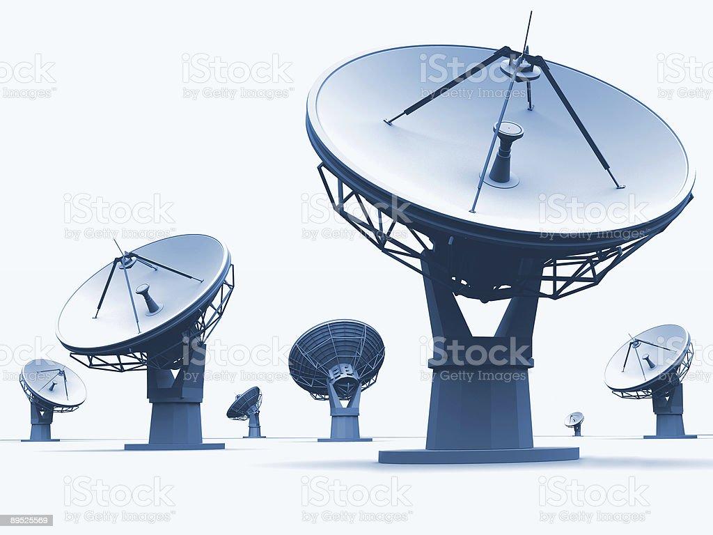 Radiotelescopes stock photo
