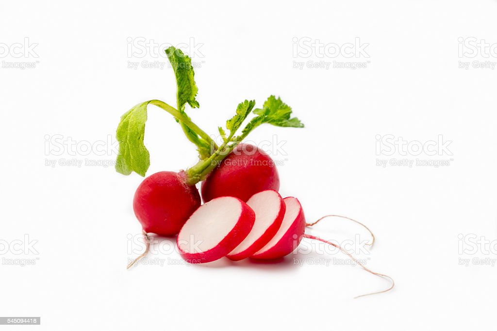 Radish on white stock photo