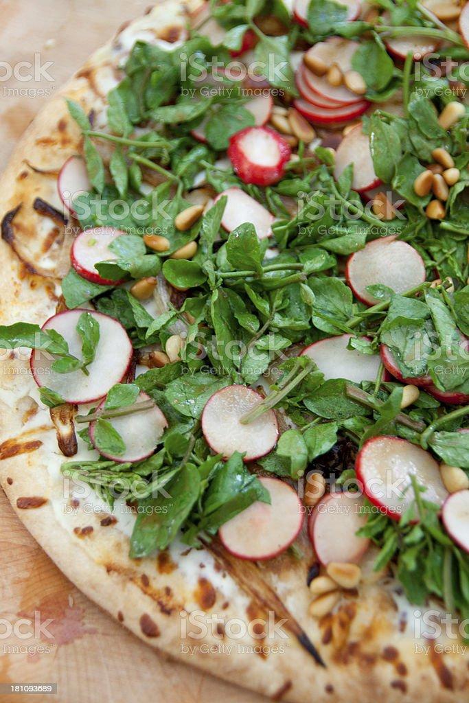 Radish pizza royalty-free stock photo
