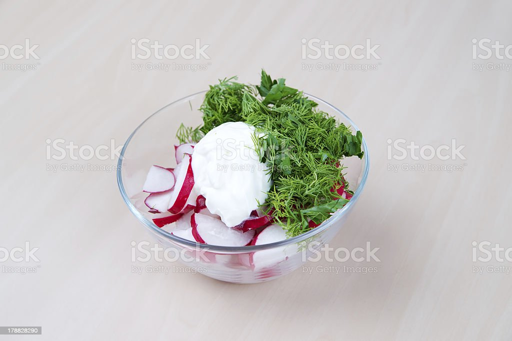 Radish salad royalty-free stock photo