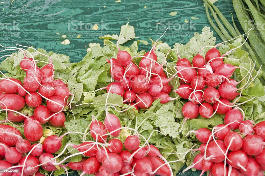 Radishes 있는 Farmer's Market royalty-free 스톡 사진