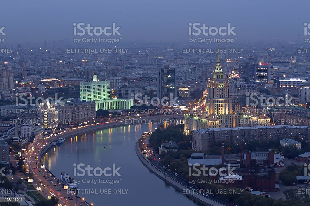 Radisson Royal Hotel and White House of Russia royalty-free stock photo