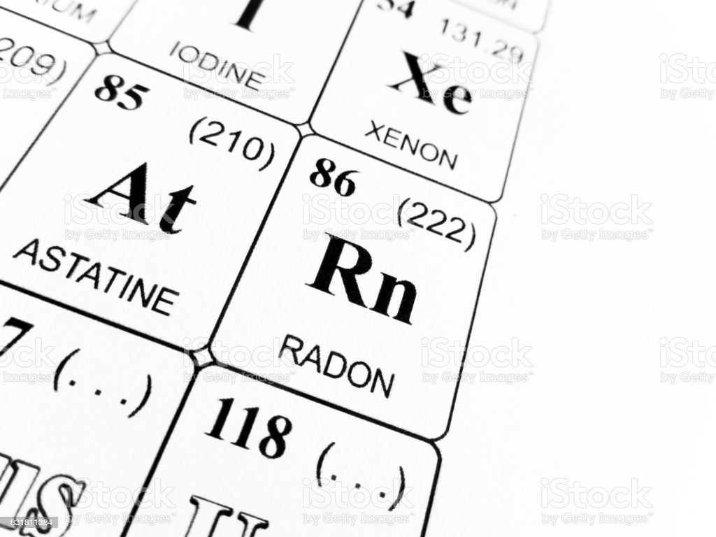 Radon On The Periodic Table Of The Elements Stock Photo Download Image Now Istock