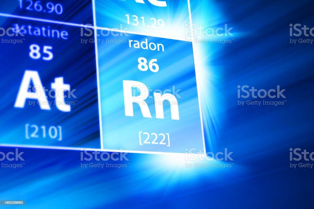 Radon Rn Periodic Table Stock Photo Istock