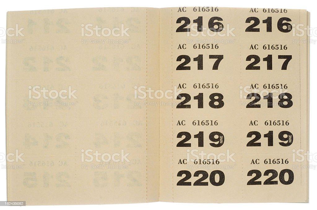 raffle tickets on white background royalty free stock photo