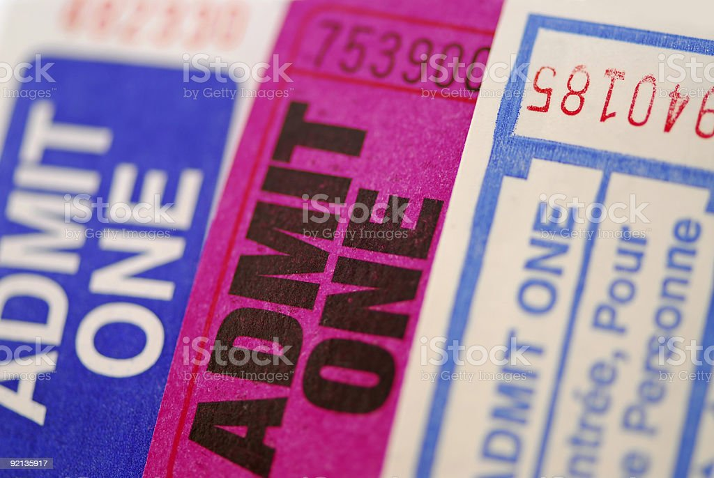 Raffle tickets stock photo