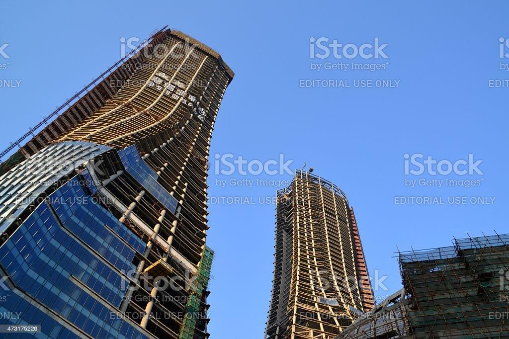 Raffles City Twin Towers Construction In Hangzhou China