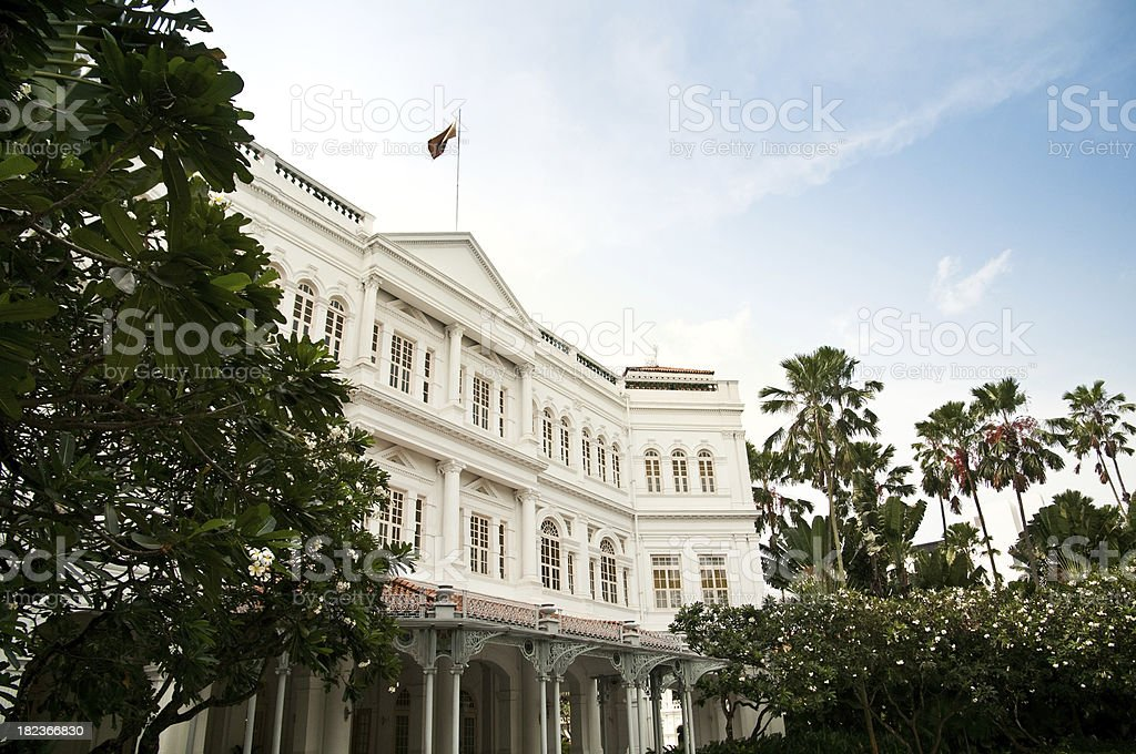 Raffles Hotel in Singapore royalty-free stock photo