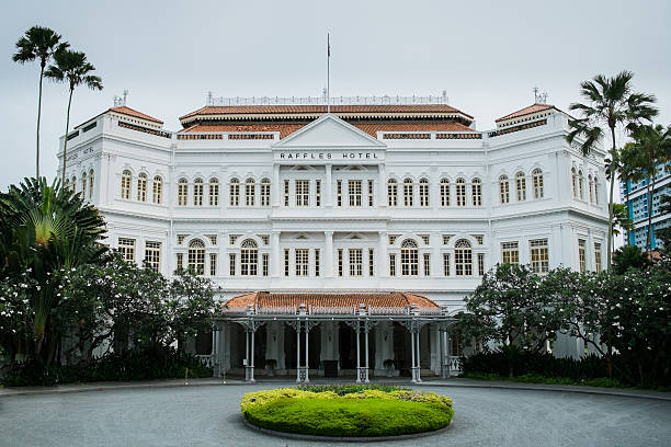 raffles hotel - singapore nature stock photos and pictures