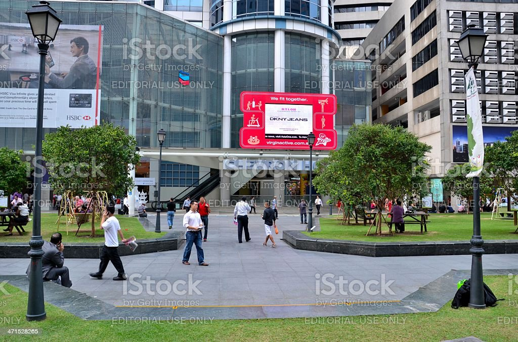 Raffles Place; Central Business District (CBD) Singapore stock photo
