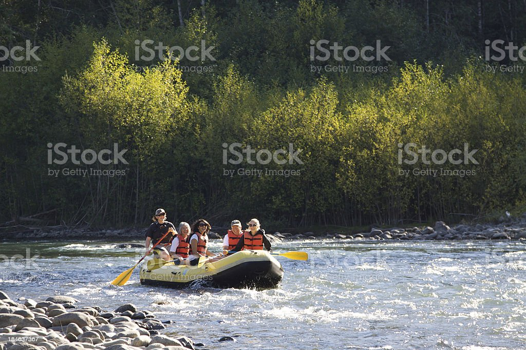 Rafing On The Beautiful Elwha River stock photo