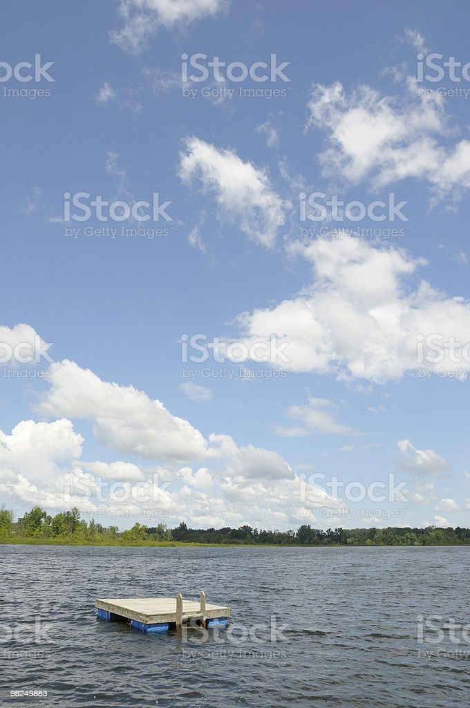 Raft and Sky royalty-free stock photo