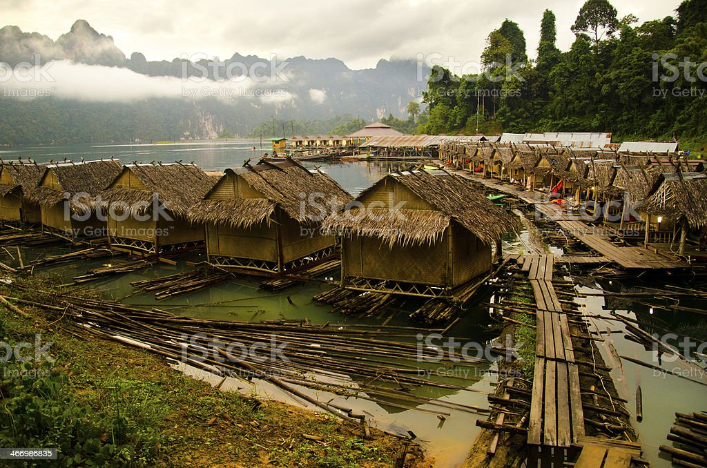 Raft in thailand royalty-free stock photo