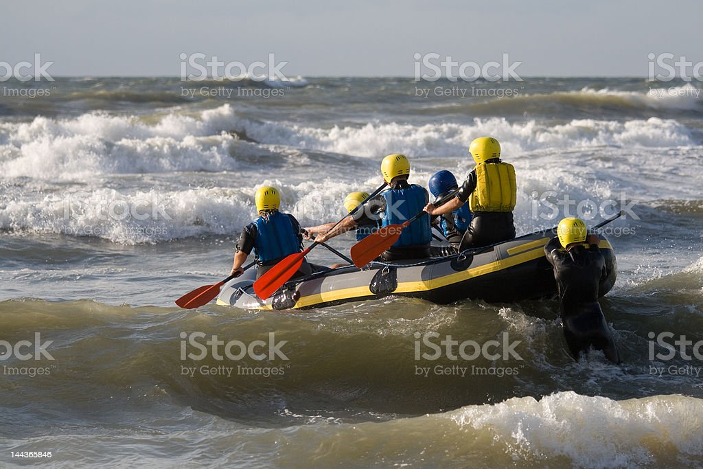 Rafters in the sea royalty-free stock photo