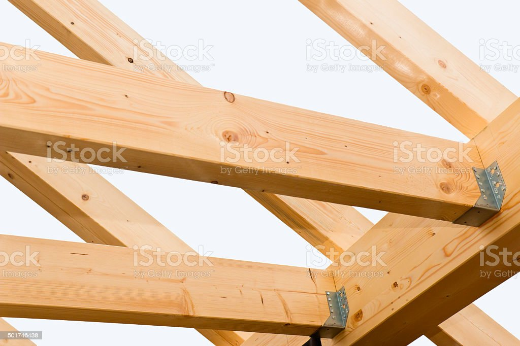 Rafters with Connectors stock photo
