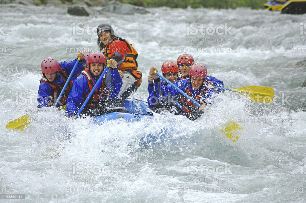 Rafting action! royalty-free stock photo