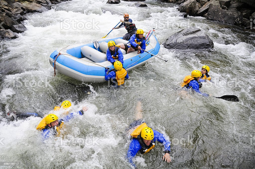 Rafting Carnage stock photo