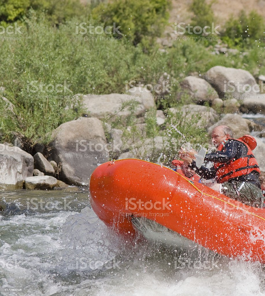 Rafting Fun royalty-free stock photo