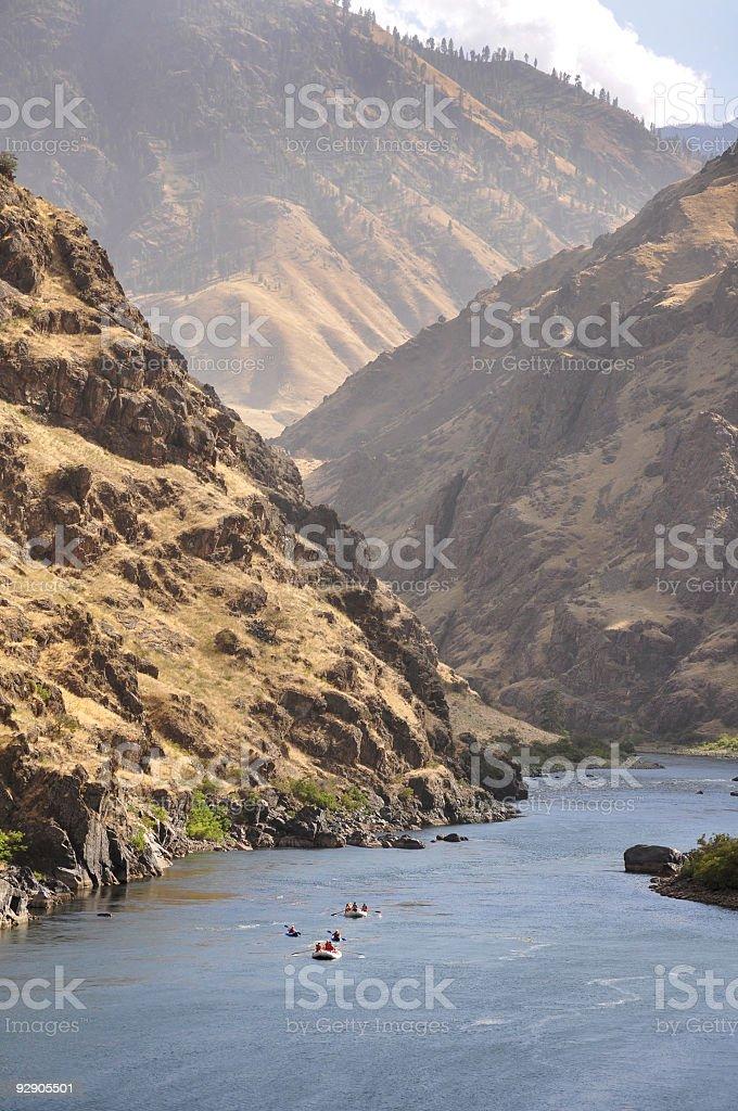 Rafting Hells Canyon royalty-free stock photo