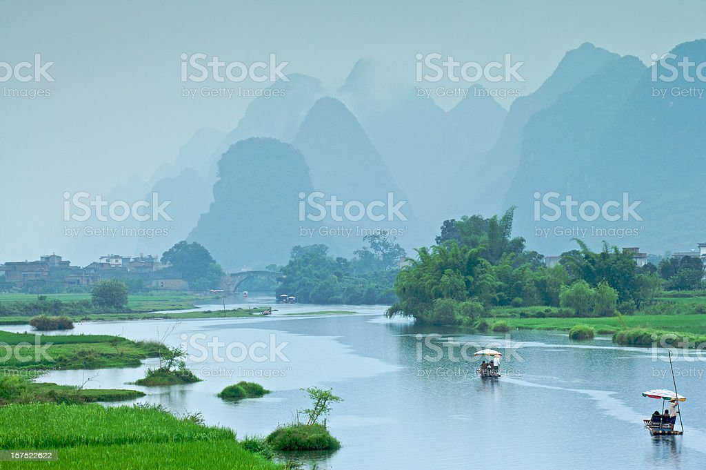 Rafting in China stock photo