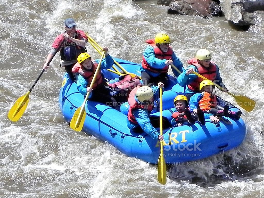 Rafting in Colorado stock photo