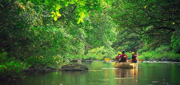rafting in costa rica - costa rica stockfoto's en -beelden