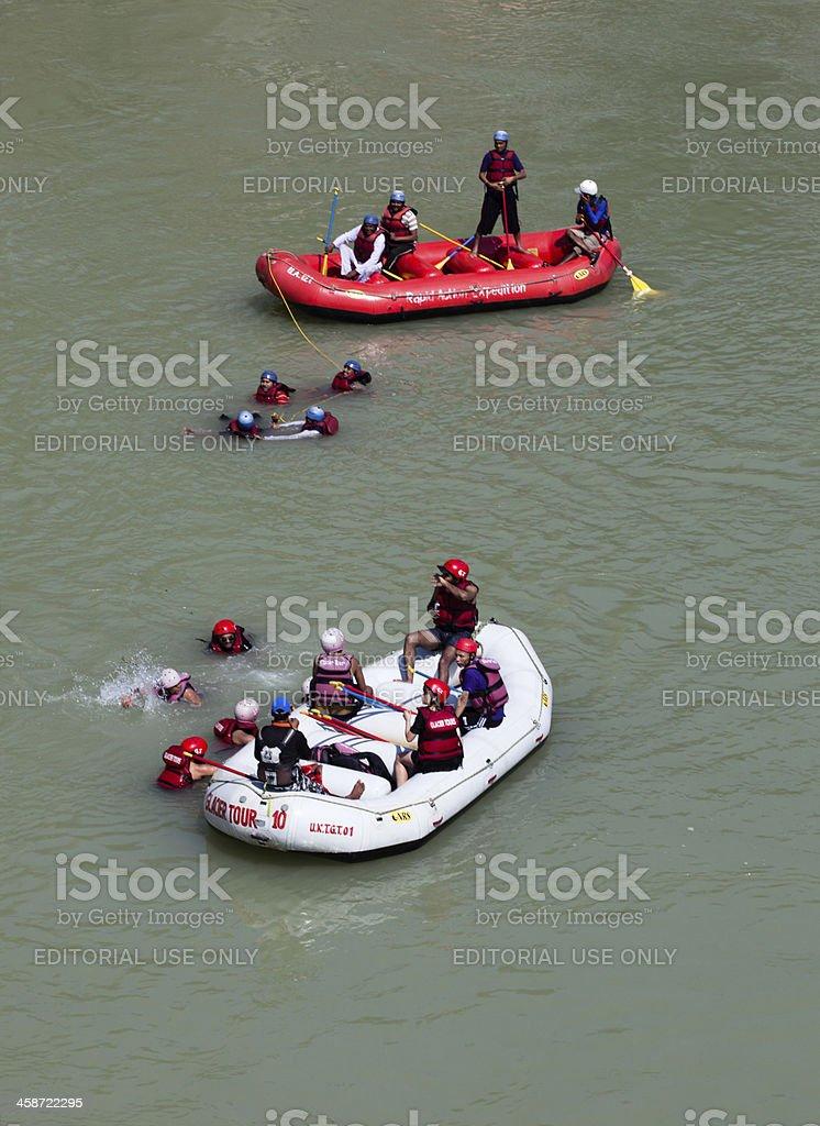 rafting in himalayas royalty-free stock photo