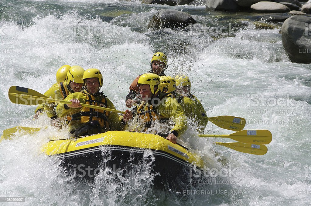 Rafting in Italy royalty-free stock photo