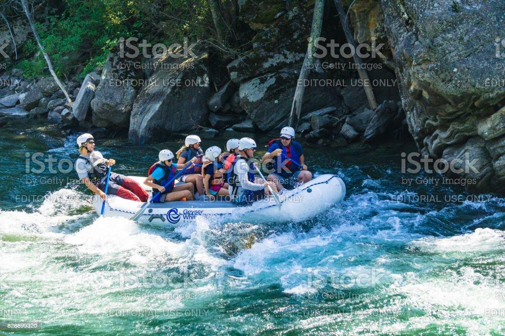 Rafting in Montana stock photo