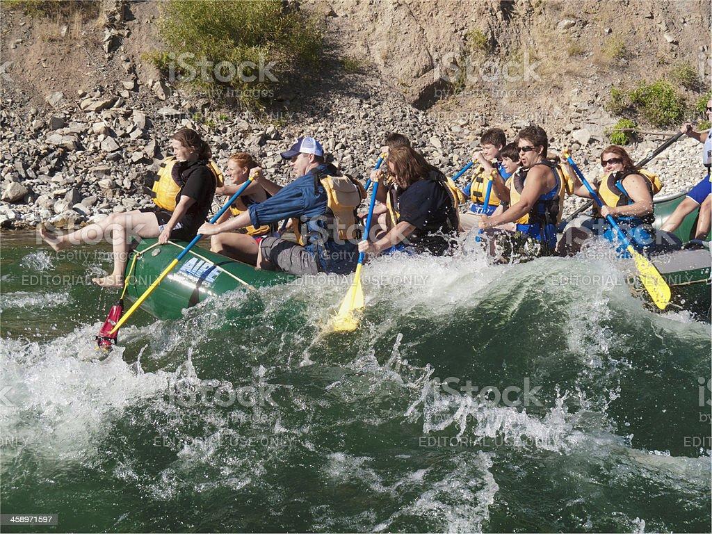 Rafting in Wyoming royalty-free stock photo