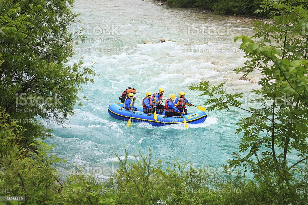 Rafting On Soca River royalty-free stock photo