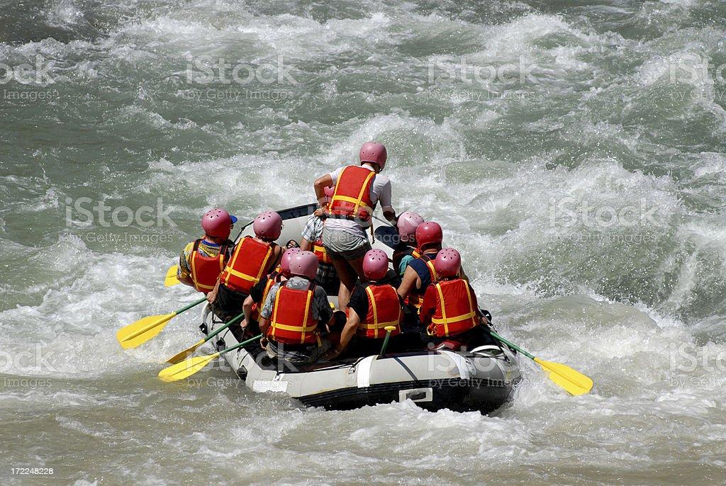 Rafting on the Coruh River royalty-free stock photo