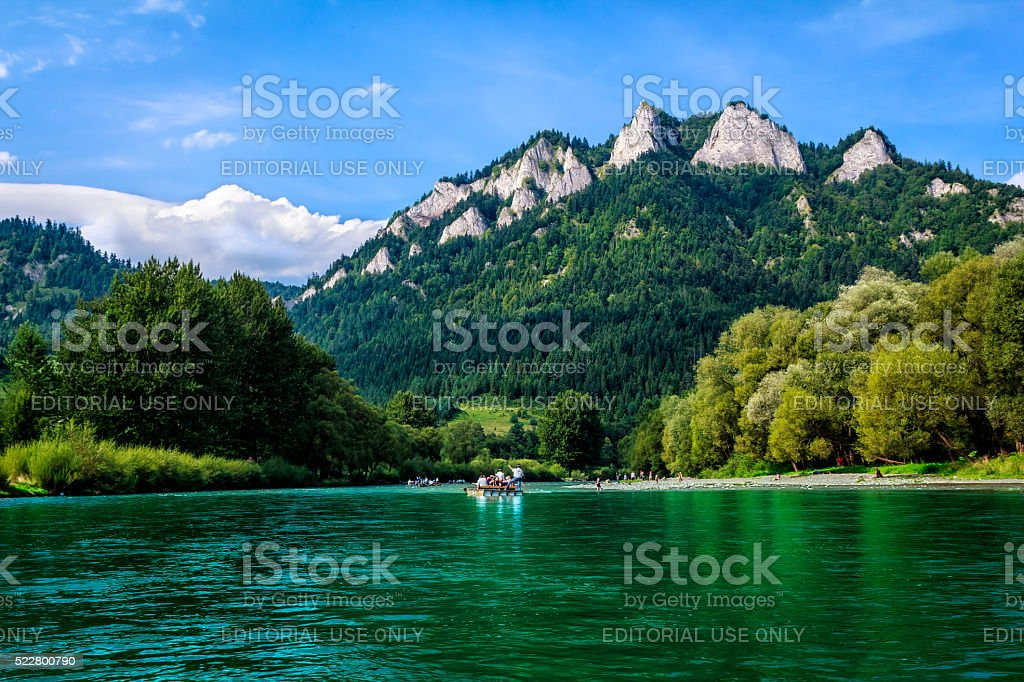 Rafting on the Dunajec river, Poland stock photo