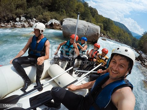 istock Rafting on the Tara river 1268650627