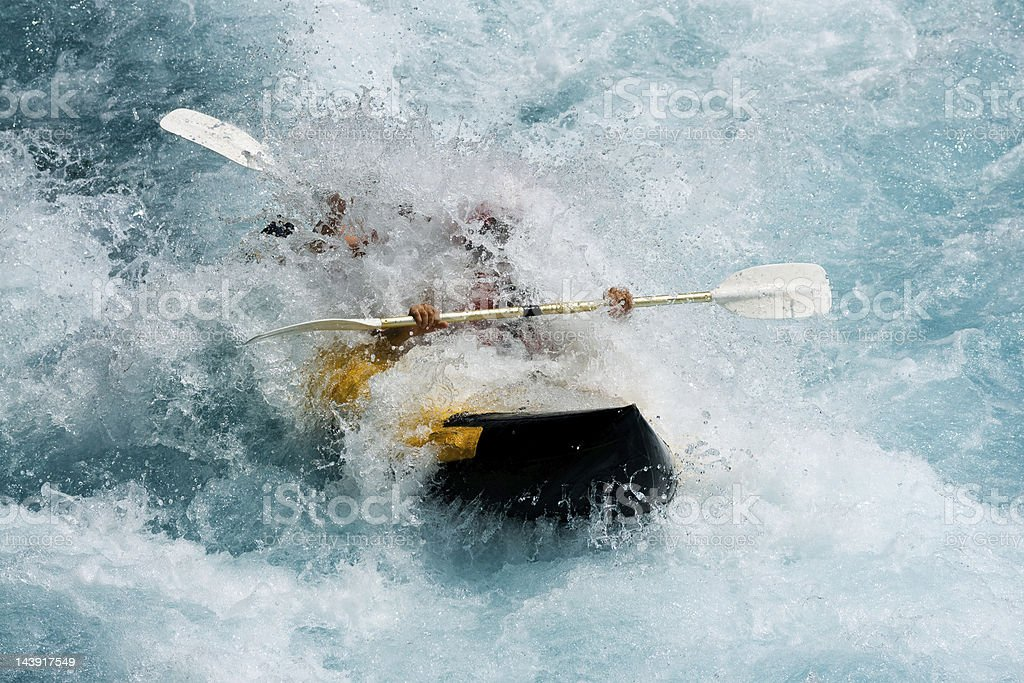 Rafting on White Water stock photo