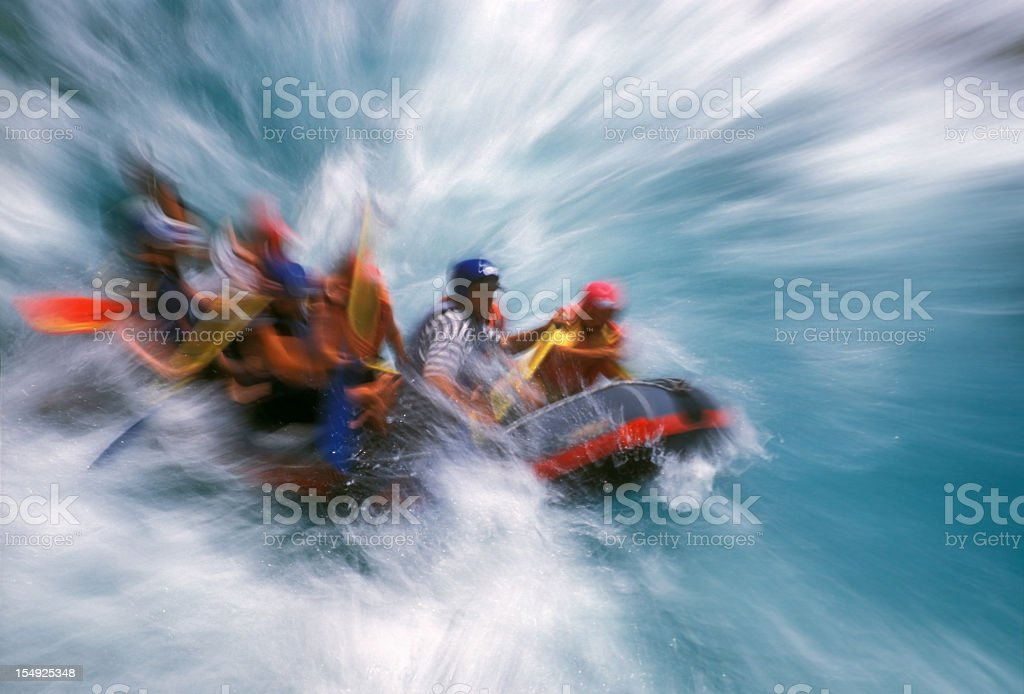 Rafting on Whitewater royalty-free stock photo