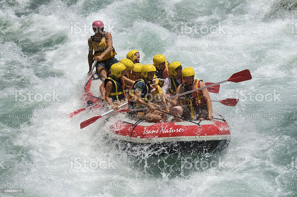 Rafting stock photo