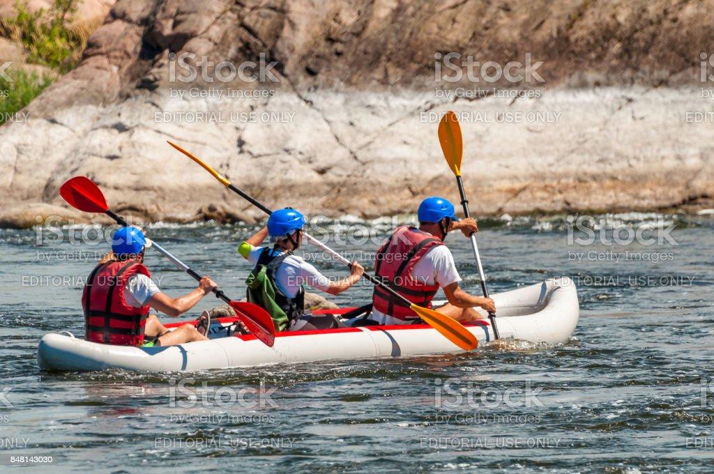 Rafting. stock photo