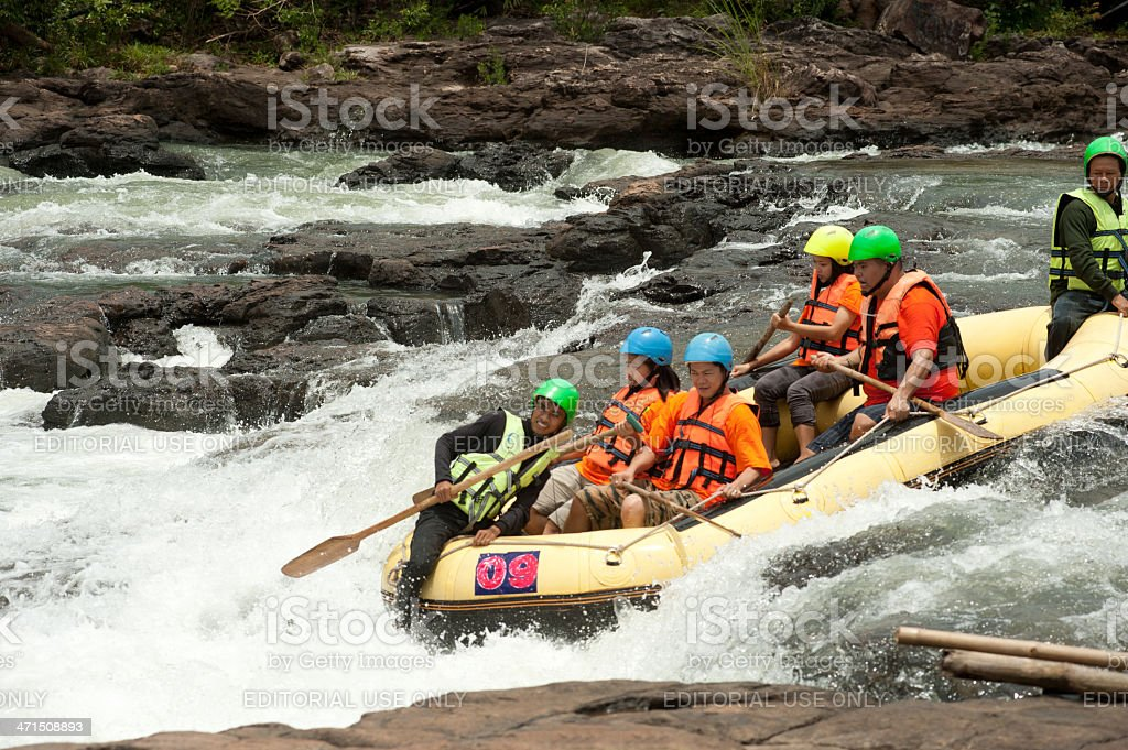 Rafting racing. royalty-free stock photo
