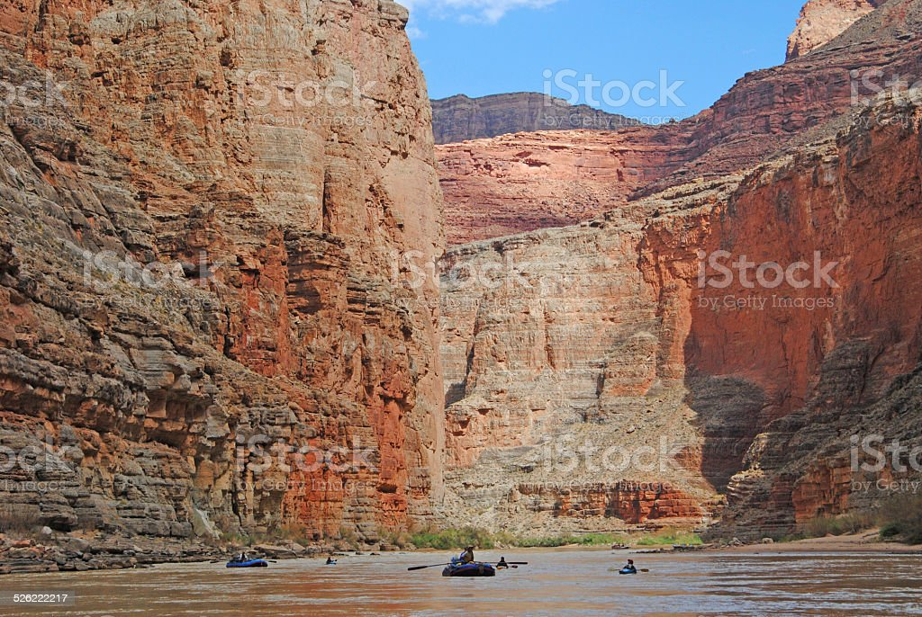 Rafting the Grand Canyon royalty-free stock photo
