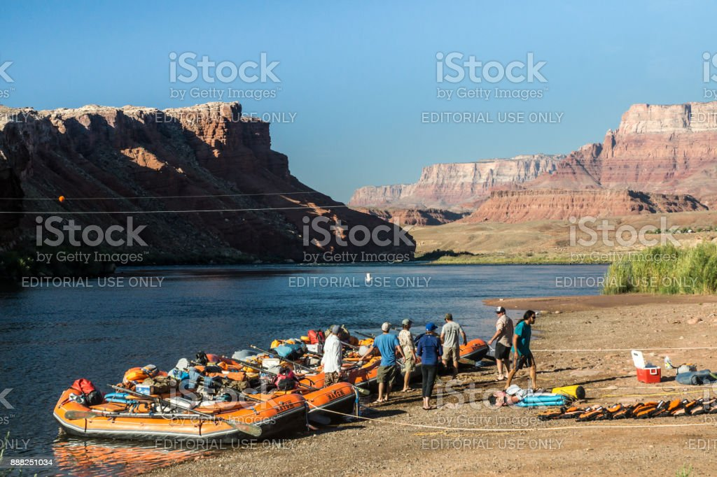 Rafting the Grand Canyon stock photo
