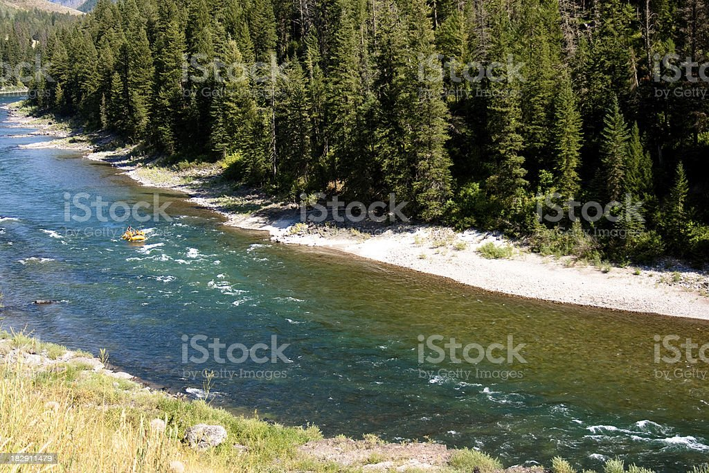 Rafting the Snake River royalty-free stock photo