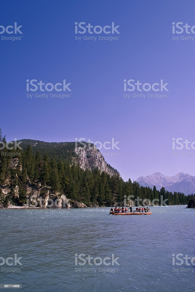 Rafting Tours On Alberta River royalty-free stock photo