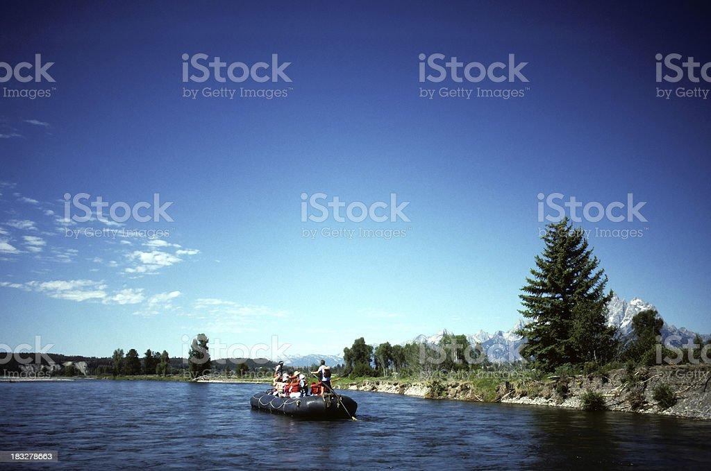 rafting trip, Grand Tetons, Wyoming stock photo