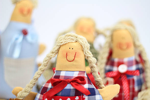 Rag dolls stock photo