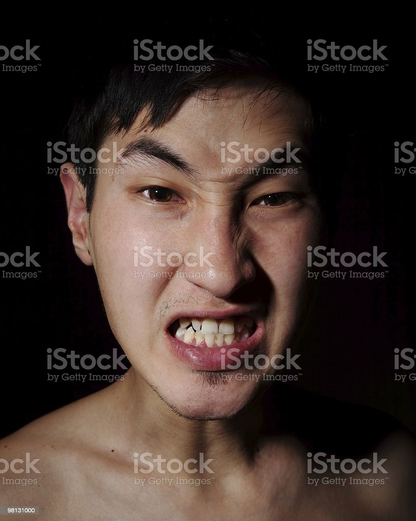 Rage and aggression royalty-free stock photo