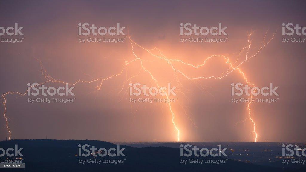 Rage of the storm stock photo