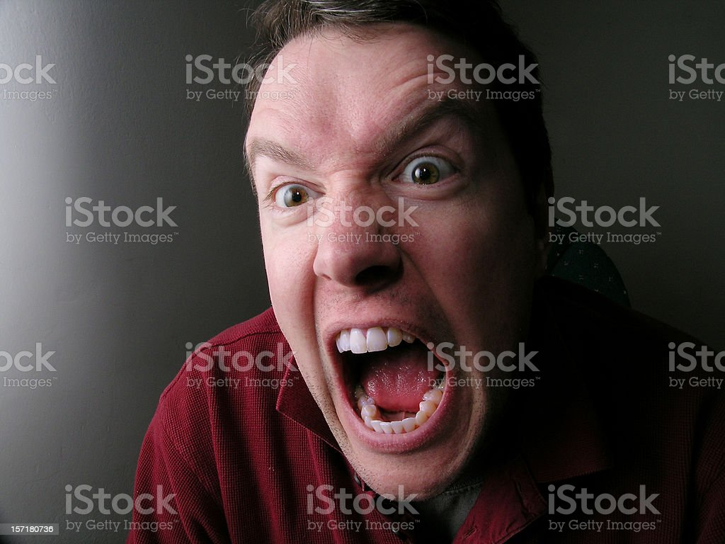 Rage of the unemployed man royalty-free stock photo