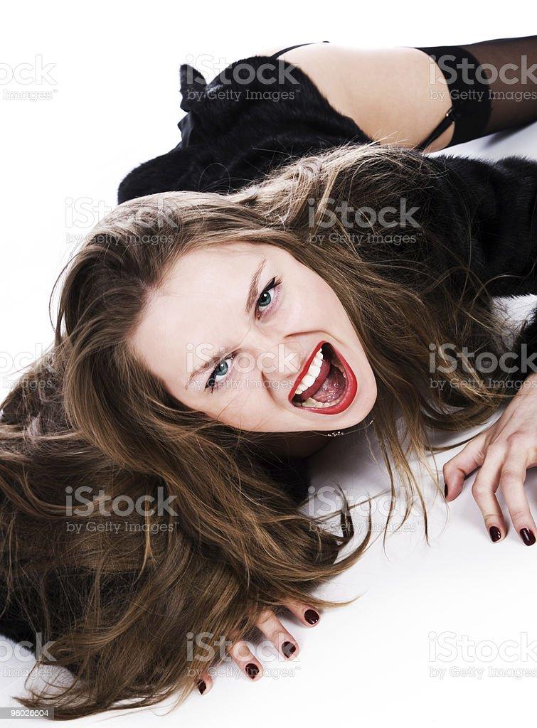 Rage of women royalty-free stock photo