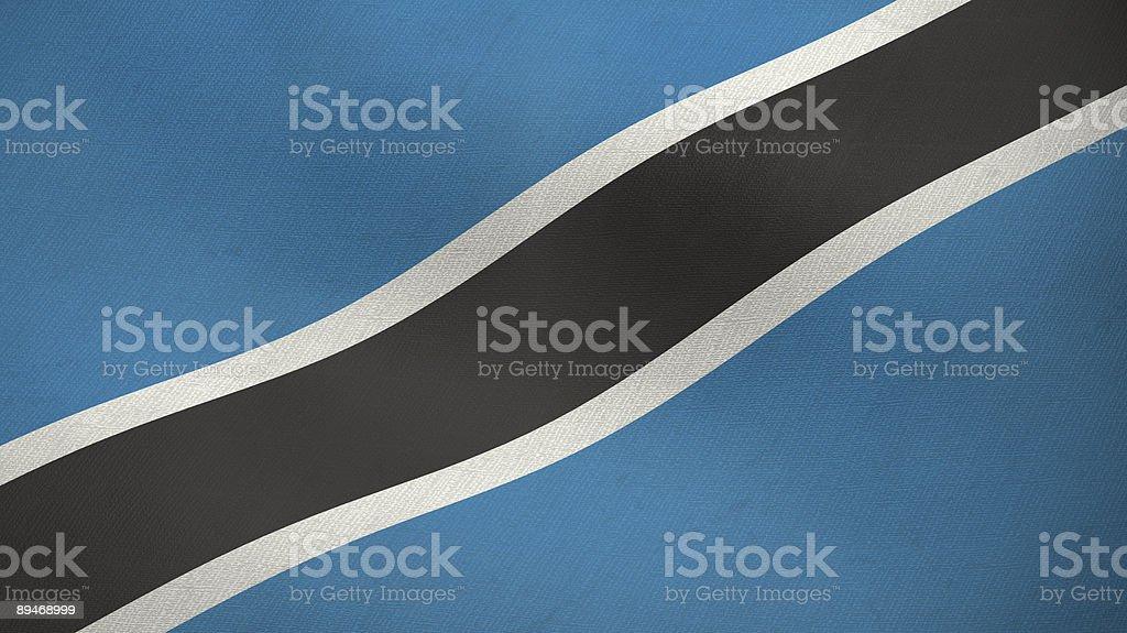 3D ragged flag of Botswana royalty-free stock photo